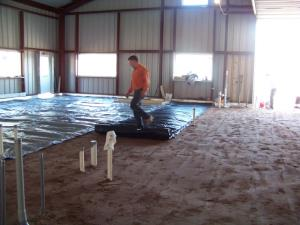 Laying Insultarp ( goes under the radiant tubing)