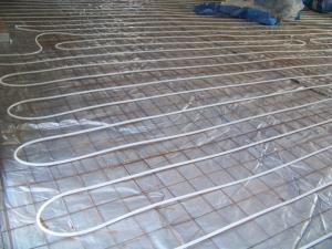 Radiant heat going in