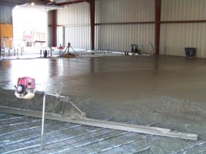 Floor half way Poured
